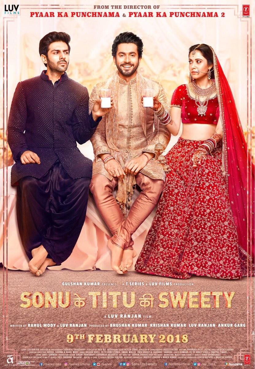 Kartik Aaryan,Nushrat Bharucha,Sunny Singh,Sonu Ke Titu Ki Sweety,Sonu Ke Titu Ki Sweety poster,Sonu Ke Titu Ki Sweety first look,Sonu Ke Titu Ki Sweety movie poster