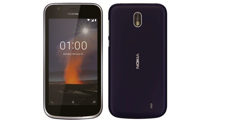 Nokia 1 front and back view