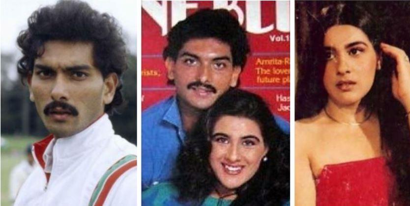 Amrita Singh and Ravi Shastri