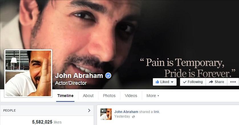 John Abraham Facebook