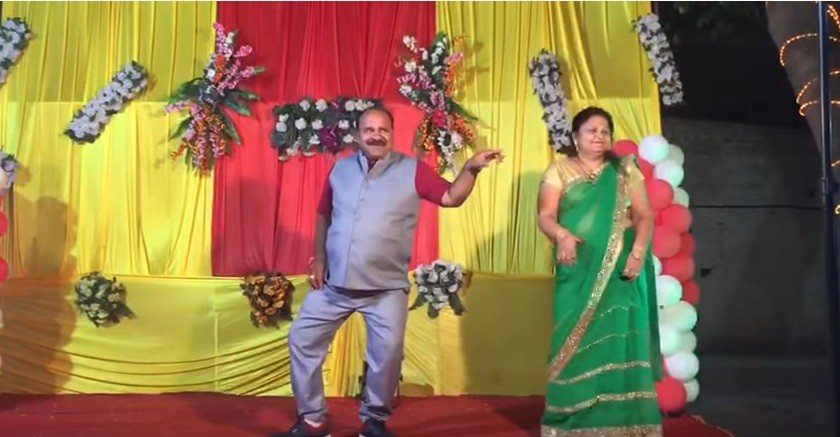 Dancing Uncle has become an internet sensation in India