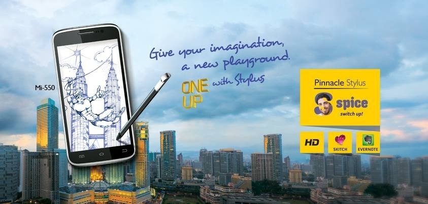 Spice Pinnacle Stylus Mi-550 (Credit: Spice Mobiles/Facebook)