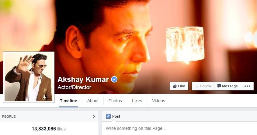 Akshay Kumar Facebook