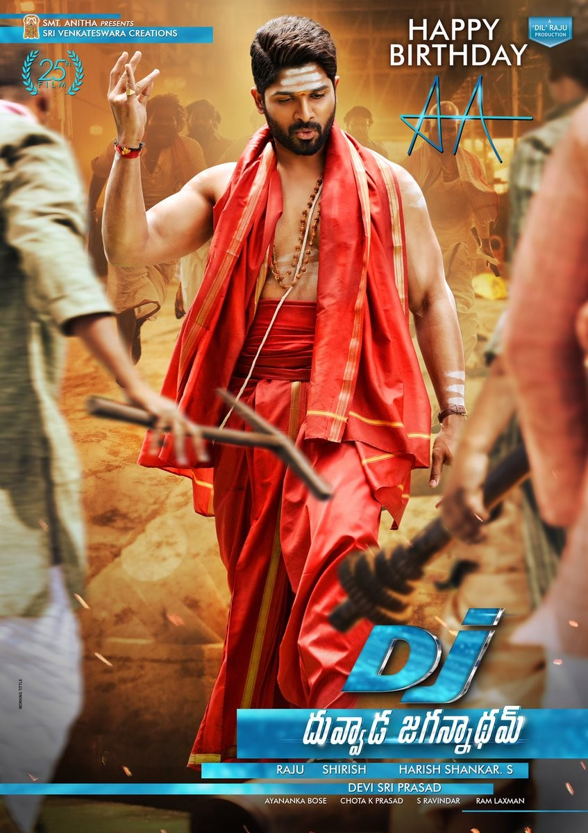 Allu Arjun,actor Allu Arjun,Allu Arjun birthday,Allu Arjun birthday special,Allu Arjun birthday poster,DJ Birthday special poster,DJ special poster,Duvvada Jagannadham,Duvvada Jagannadham special poster