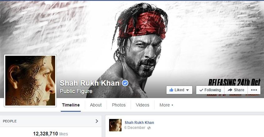 Shah Rukh Facebook