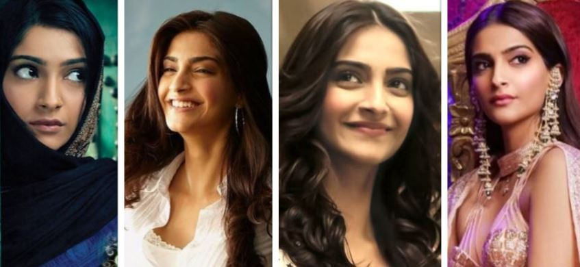 Sonam Kapoor then and now