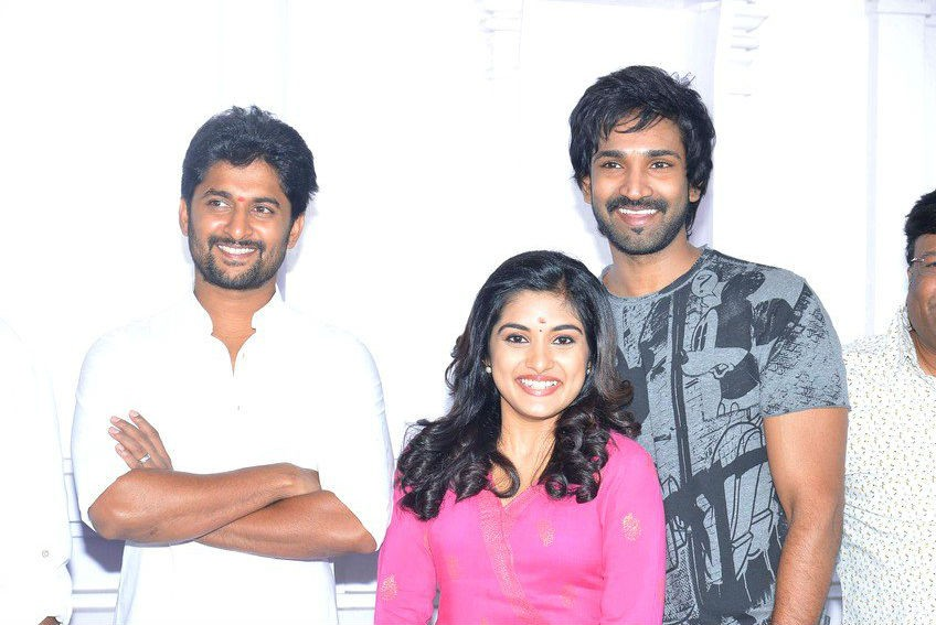 Nani,Aadi Pinisetty,Nivetha Thomas,Nani new movie,Nani upcoming movie,Nani and Nivetha Thomas,Nivetha Thomas new movie,Nivetha Thomas with nani
