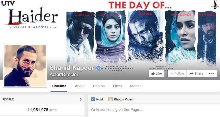 Shahid Kapoor Facebook