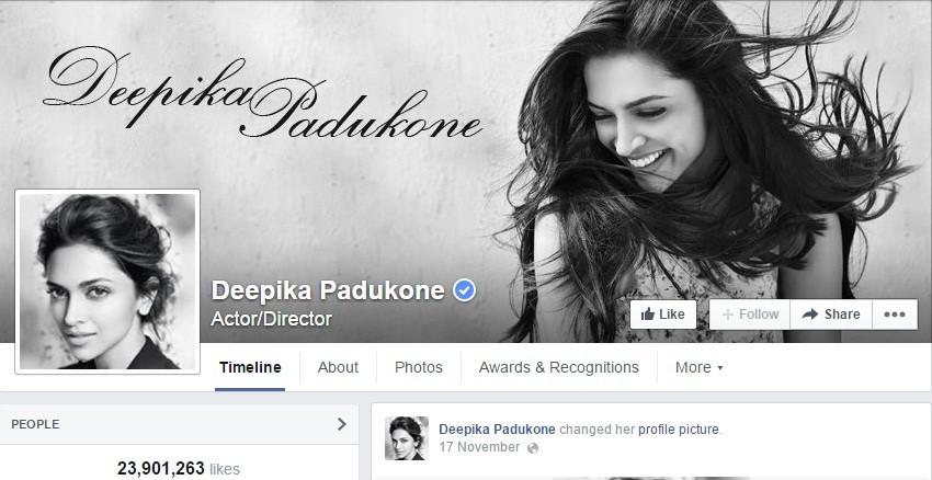 Deepika Padukone Facebook