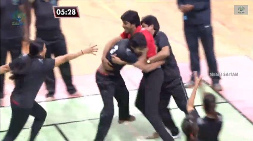 Manchu Vishnu's Black Tigers Earned 2 points over Red Panthers.