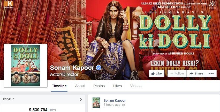 Sonam Kapoor Facebook