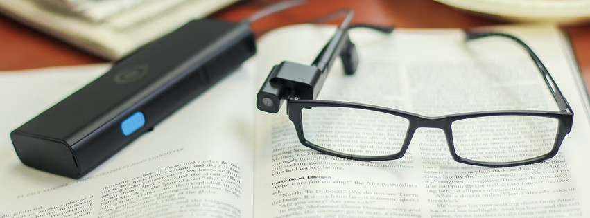 OrCam visual aid for blind helps them read book, identify faces