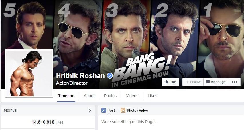 Hrithik Roshan Facebook