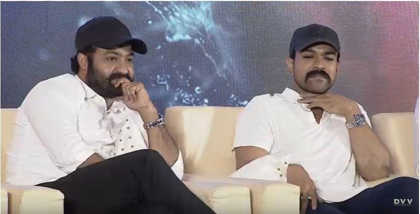 Junior NTR and Ram Charan at RRR press meet
