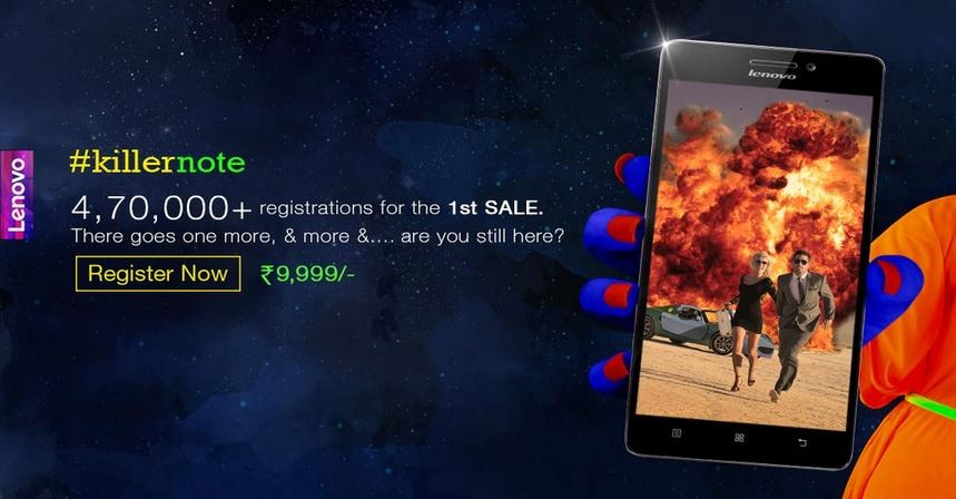 Lenovo K3 Note Gets Close to Half Million Registrations; Enrollment for Flipkart Flash Sale Closes on 7 July