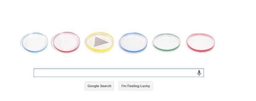Animated Google Doodle Celebrating Julius Richard Petri's 160 Birthday (Google)