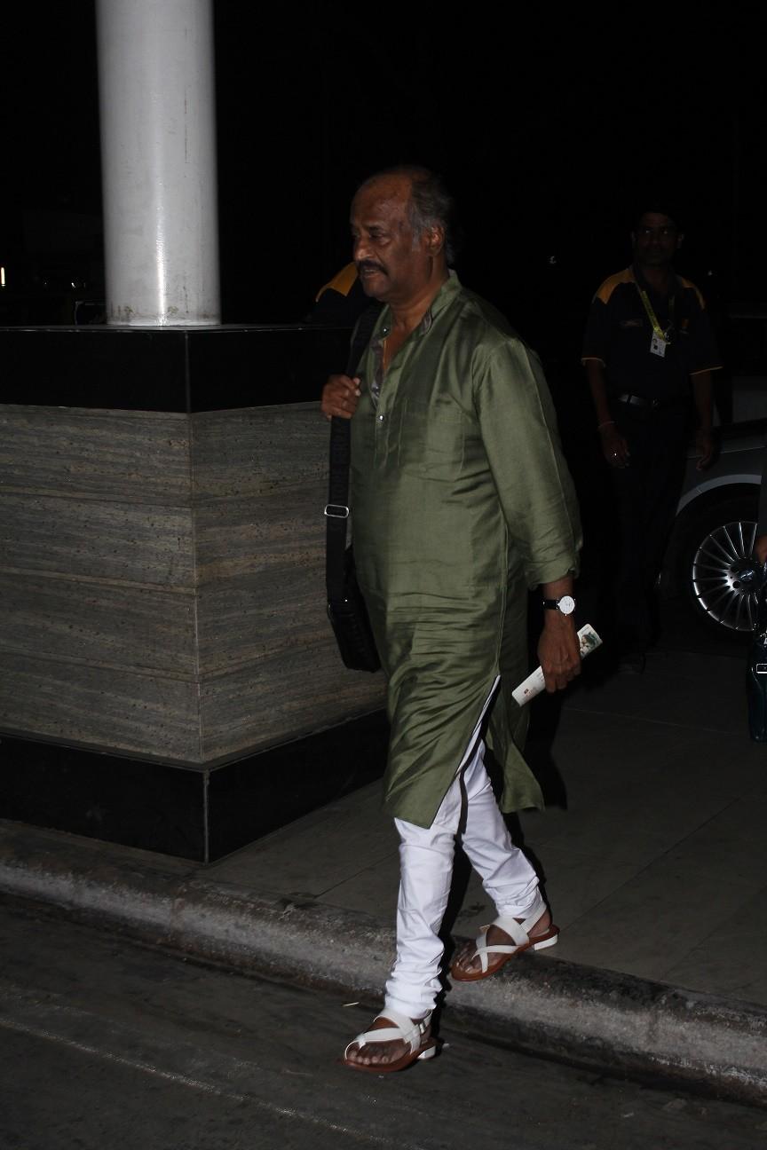 Rajinikanth at Mumbai Airport