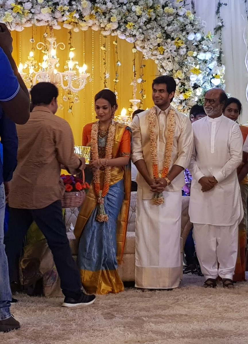Rajinikanth's Daughter Soundarya's Wedding Reception with Vishagan Vanangamudi