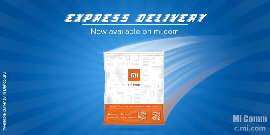 Xiaomi Express Delivery service in Bengaluru