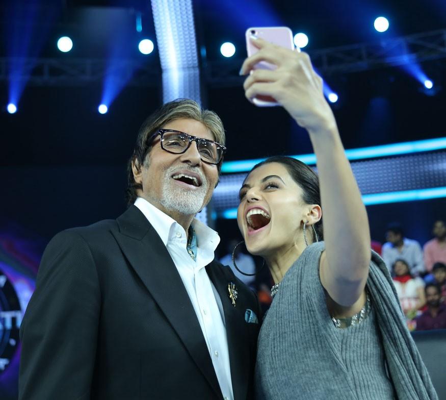 Amitabh Bachchan,Taapsee Pannu,actress Taapsee Pannu,Kaun Banega Crorepati 9,Kaun Banega Crorepati,Amitabh Bachchan hosts Taapsee Pannu