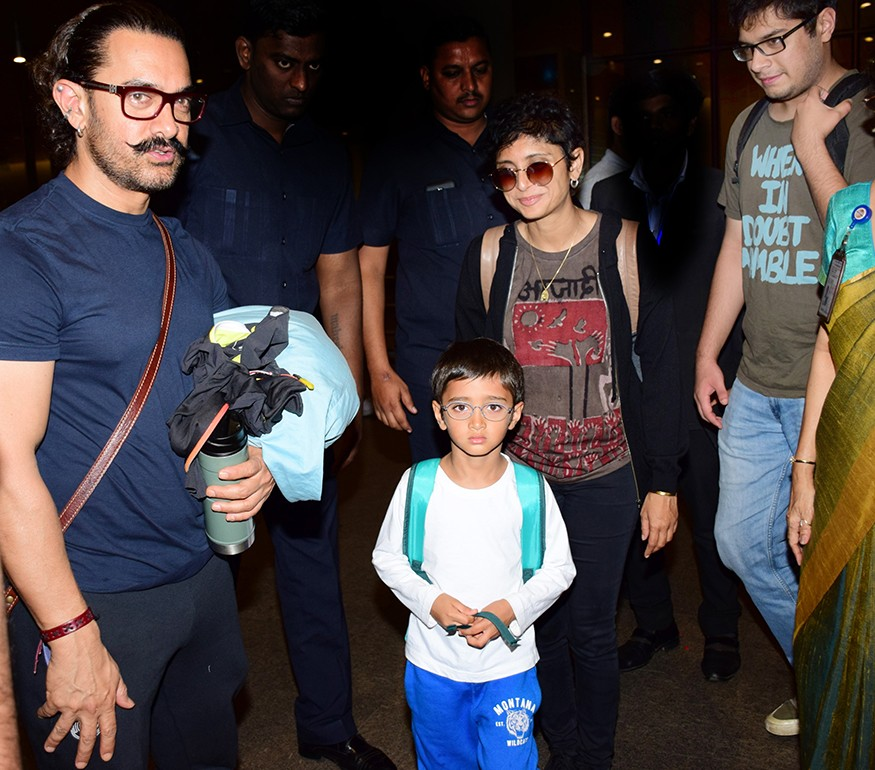 Aamir Khan,actor Aamir Khan,Azad Rao Khan,Kiran Rao,Aamir Khan returns to Mumbai,Aamir Khan returns to Mumbai after New Year celebrations,Aamir Khan New Year celebration,Junaid Khan