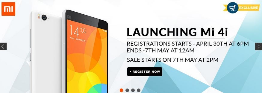 Xiaomi Mi 4i Flipkart Flash Sale 2.0 to Kick-off on 7 May
