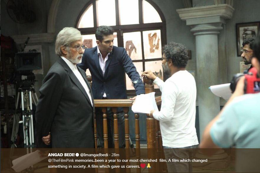 Angad Bedi,Amitabh Bachchan,Taapsee Pannu,Kirti Kulhari,PINK