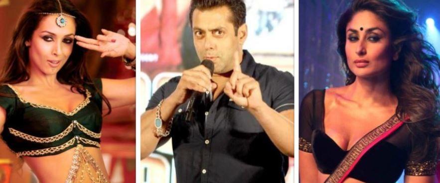 Malaika Arora, Salman Khan, Kareena Kapoor