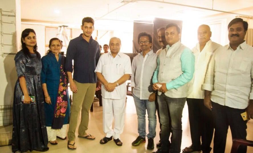 Mahesh 23,Mahesh23,Mahesh Babu,AR Murugadoss,Mahesh Babu and AR Murugadoss,Nitinbhai Patel,Deputy Chief Minister Nitinbhai Patel,Mahesh 23 on the sets,Mahesh 23 shotting