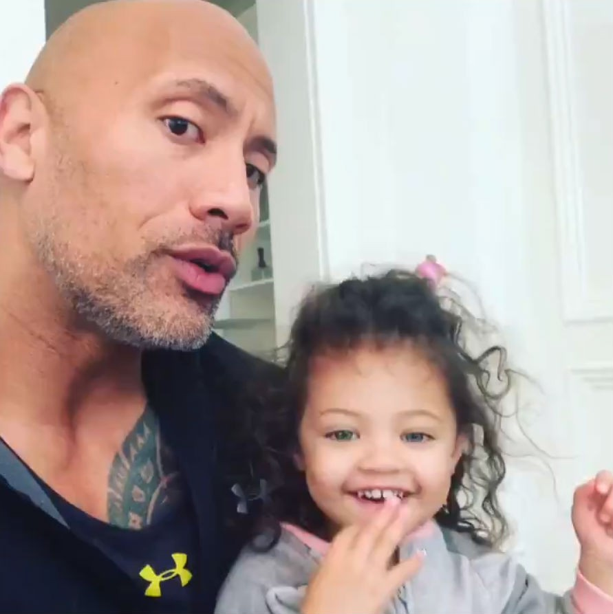 Dwayne Johnson,actor Dwayne Johnson,THe rock,Dwayne Johnson daughter,The rock daughter,women's day