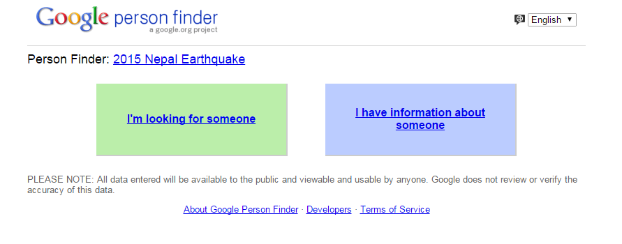 Google launches Person Finder website