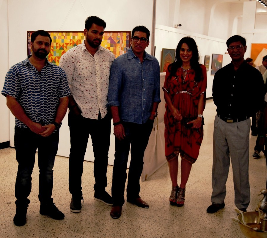 Pooja Bedi,Mukesh Rishi,Raghav Rishi,Padmanabh Bendre,Timeless Space exhibition,Timeless Space exhibition pics