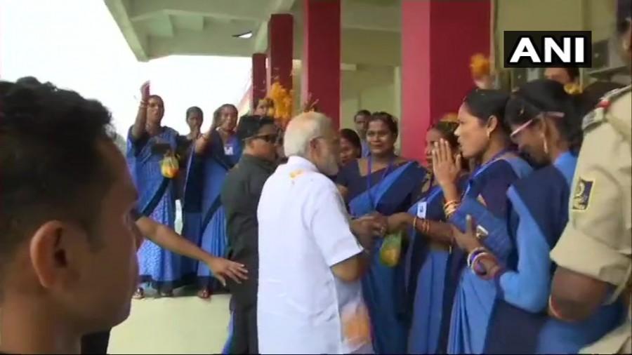 Narendra Modi,PM Narendra Modi,Narendra Modi in Odisha,Modi in Odisha,Anganwadi workers,Anganwadi
