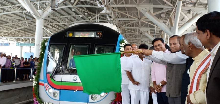 Governor E. S. L. Narasimhan,Narasimhan,Ameerpet to LB Nagar,Metro rail Ameerpet to LB Nagar,Ameerpet to LB Nagar metro rail