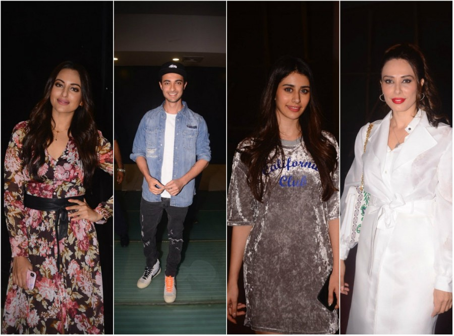 Sonakshi Sinha,Warina Hussain,Aayush Sharma,Iulia Vantur,Amrita Arora,Arbaaz Khan,Arpita Khan,Loveyatri,Loveyatri special screening,Loveyatri special screening pics,Loveyatri special screening images,Loveyatri special screening stills,Loveyatri special sc