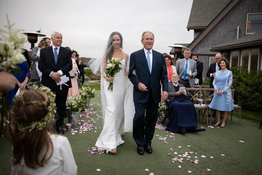 George W. Bush,George W. Bush daughter,Laura Bush,Kennebunkport,Barbara,Barbara wedding,Barbara marriage,Craig Louis Coyne