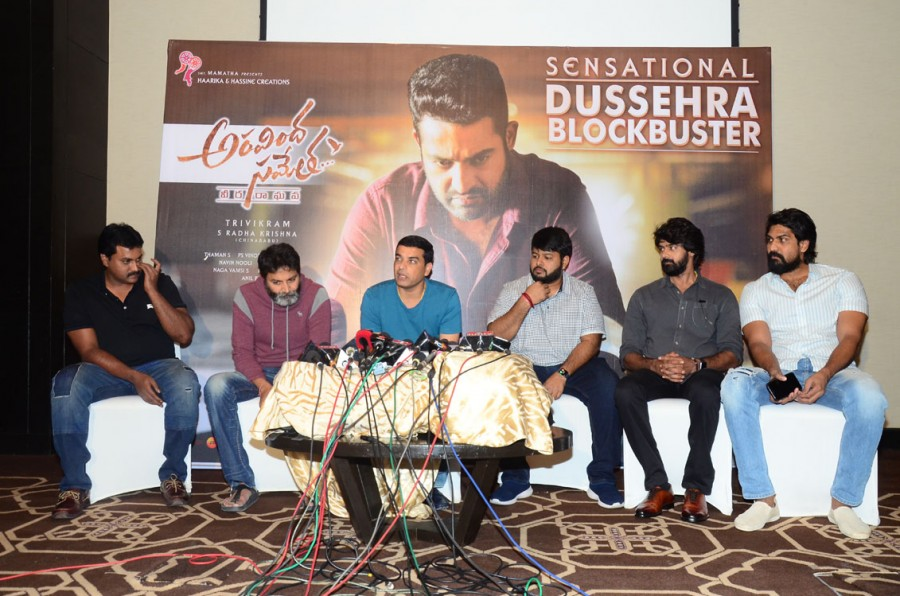 Sunil,Naveen Nooli,Trivikram Srinivas,Dil Raju,Aravinda Sametha,Aravinda Sametha success meet,Aravinda Sametha success meet pics,Aravinda Sametha success meet images,Aravinda Sametha success meet photos,Aravinda Sametha success meet pictures