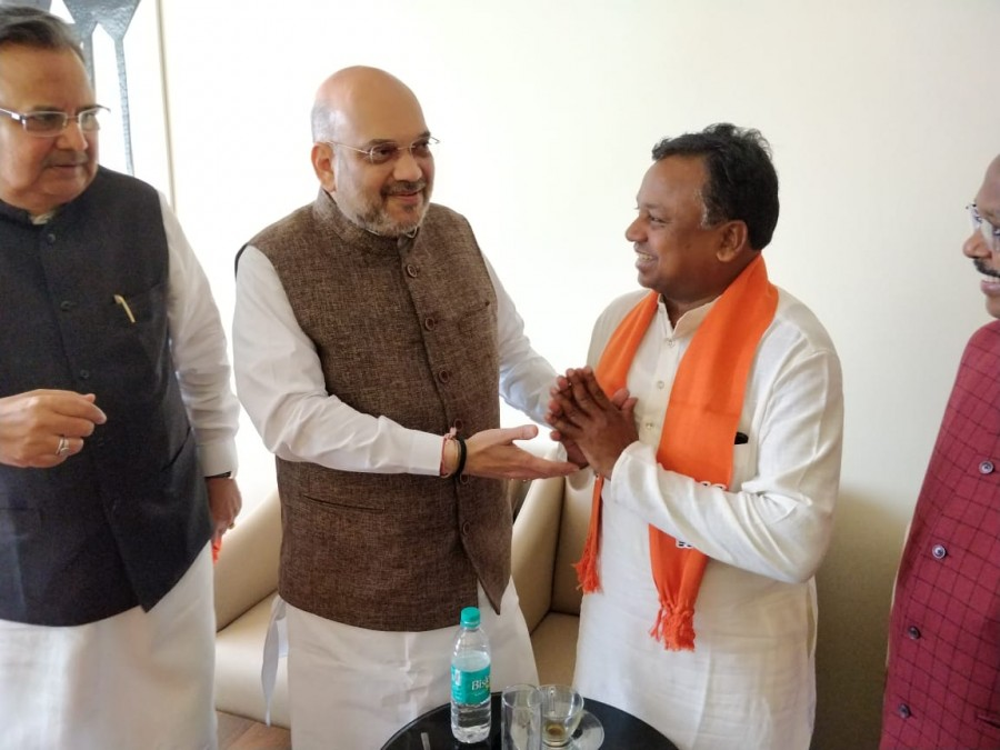 Ramdayal Uike,Ramdayal Uike joins BJP,Ramdayal Uike joins BJP from Congress,BJP from Congress,Chhattisgarh assembly polls,Ramdayal Uike join BJP,Amit Shah