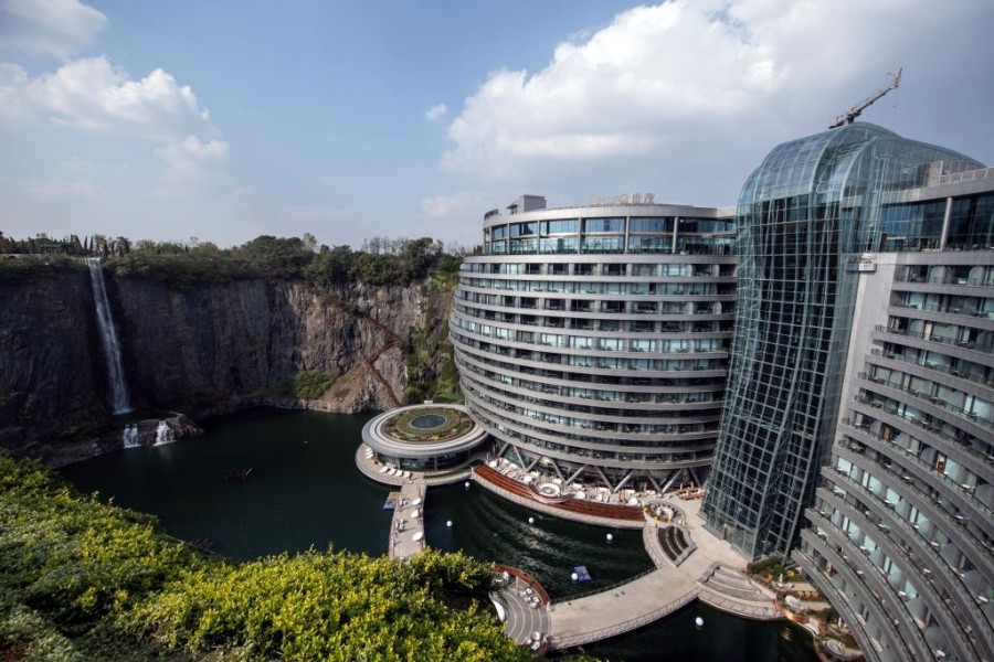 Shanghai,intercontinental wonderland,Wonderland Shanghai,Hotel In A Quarry,Abandoned Quarry,Shanghai Development,China infrastructure project,China infrastructure investment