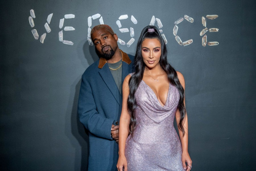 Kanye West,Kim Kardashian,Kim kardashian west,Kim Kardashian hot,Versace,Versace 2019,manhattan,New York City,New York,Fashion