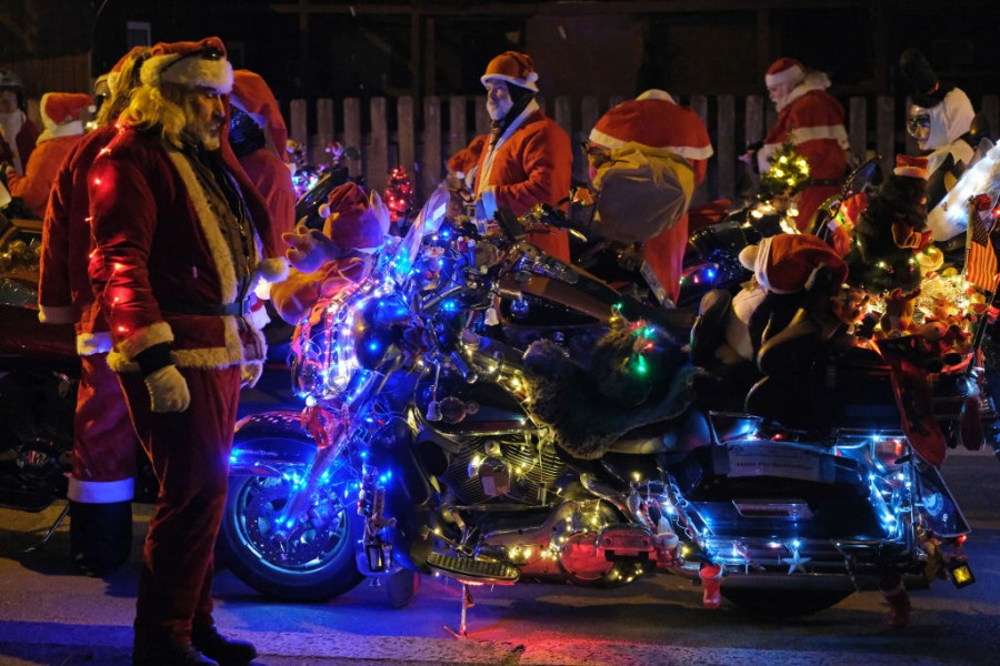 Biker Santa,Santa Claus,santa claus in real life,Santa Bikers,Bikers,Yamaha,Harley Davidson,Christmas 2018,christmas celebrations