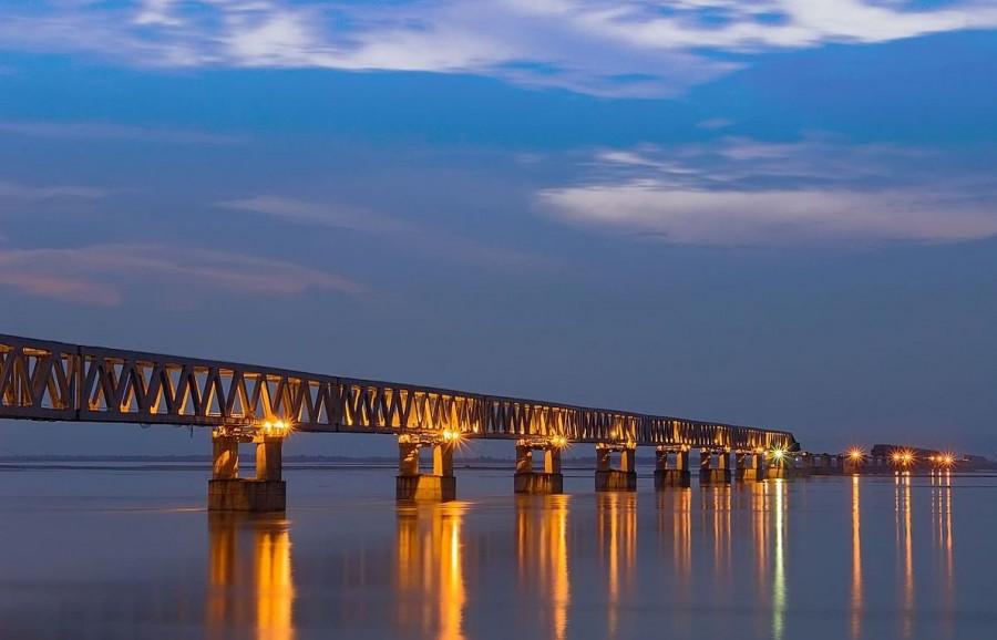Prime Minister Narendra Modi,Prime Minister Narendra Modi BJP,Bogibeel,Bogibeel bridge,Bogibeel Road-cum-Rail bridge,Brahmaputra river,Brahmaputra tributary,dibrugarh