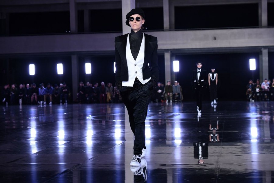 Comme des Garçons.,Balmain,Balmain Homme,paris fashion week,Paris Fashion Week 2019,Paris Fashion Week Autumn Winter,Neymar,Neymar at Paris Fashion Week