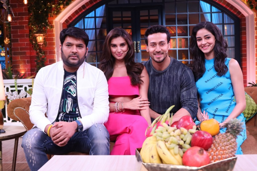 Tiger Shroff,The Kapil Sharma Show,Kapil Sharma,Tiger Shroff on Kapil Sharma Show,Ananya Pandey and Tara Sutaria,revealed his first ever crush on the show,Student of the Year 2,SOTY 2 stars Kapil Sharma Show,SOTY 2 team Kapil show