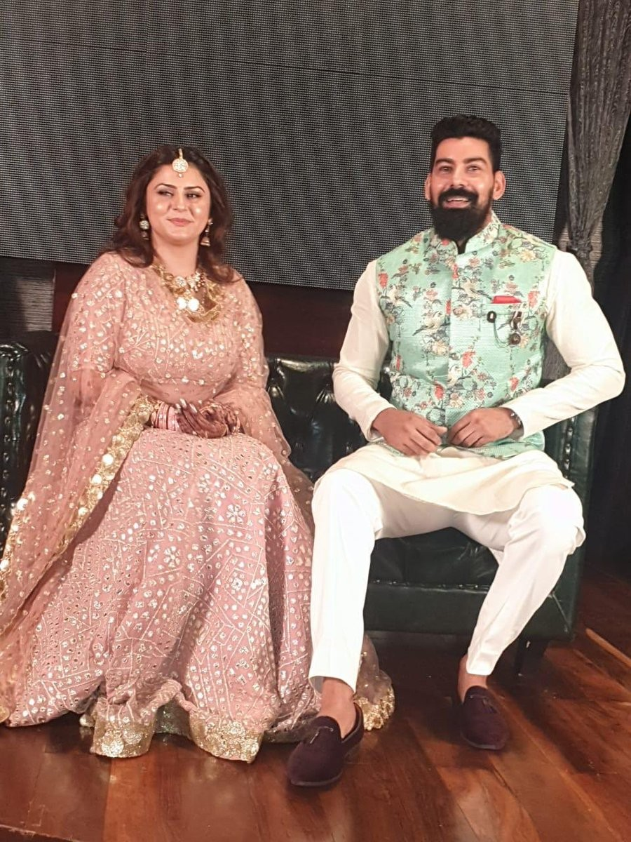 Actor Kabir Duhan Singh,singer Dolly Sindhu on June 22. The actor shared some Kabir Duhan Singh engagement photos,Kabir Duhan Singh engagement pics,Dolly Sindhu engagement pictures,Kabir Duhan Singh films
