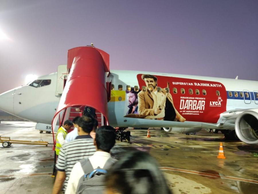 Darbar,rajinikanth,rajinikanth darbar flight,darbar flight,darbar promotions,kabali