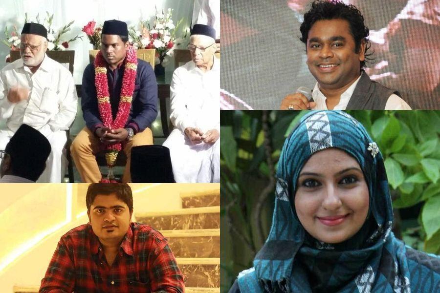 Celebrities who converted to islam,hindus who converted to islam,hindus converting to muslim,ar rahman,yuvan Shankar raja,simbu,kuralarasan,monica