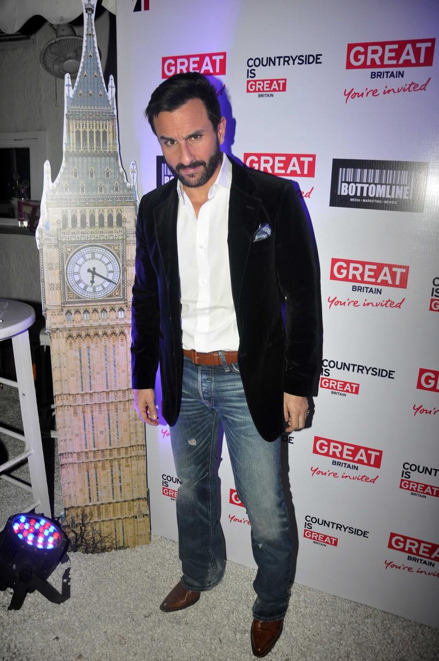 Saif Ali Khan,Rashmi Nigam,Sumathi Ramanathan,press conference,Mumbai,UK Tourism,photos