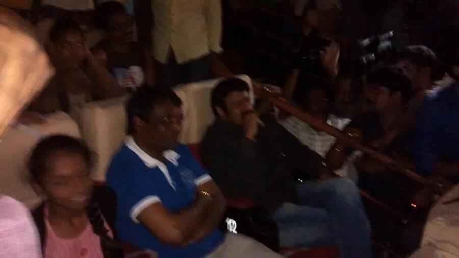 Balakrishna Watches Lion Movie at Bramaramba Theatre,Balakrishna Watches Lion Movie,Nandamuri Balakrishna,actor Nandamuri Balakrishna,Lion Movie,Lion Movie stills,Bramaramba Theatre,Bramaramba Theatre in Hyderabad,actor Balakrishna
