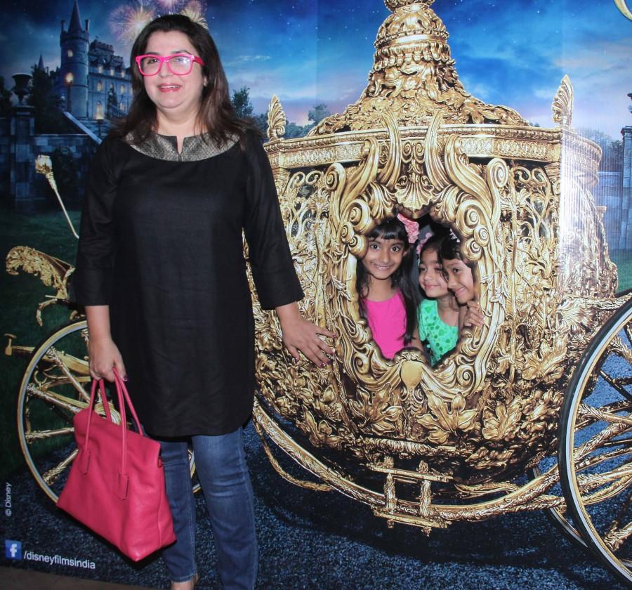 Cinderella,Cinderella special screening,Farah khan,Farah khan and kids,Mini mathur,Rohan Sippy,Shabana Raza